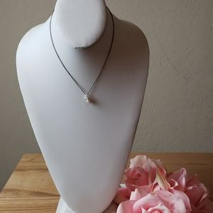 [Vintage] Pearl Bling Pendant Necklace